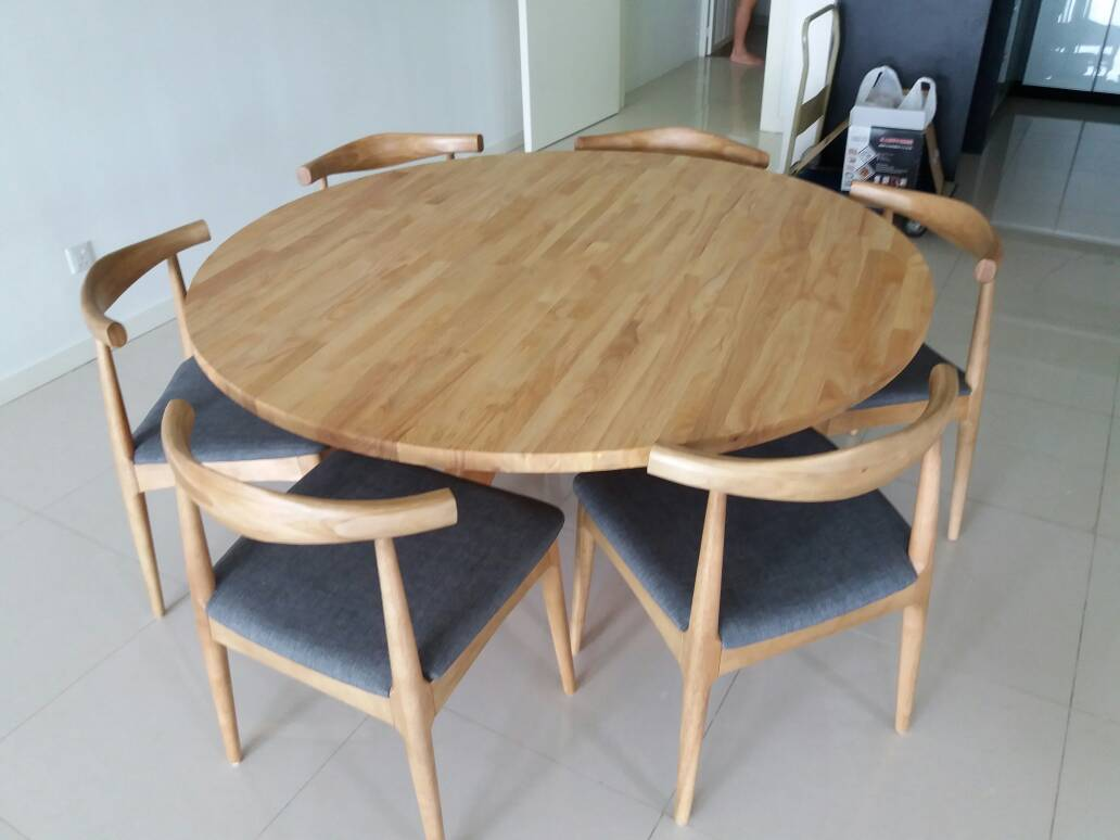 Em Wood Round Dining Table Moredesign