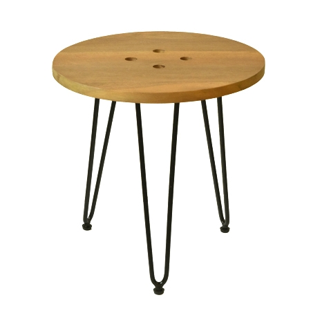 BUTTON PIN LEG SIDE TABLE